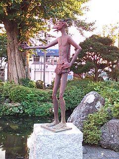 2012駅前のかっぱボス.JPG